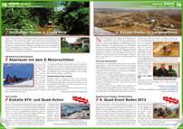 ATV&QUAD Magazin 2013/01-02, Seite 78-79, Szene Erlebnis; Hotel Paraiso del Cocodrilo: Dschungel-Touren in Costa Rica; HB-Adventure Switzerland: Abenteuer mit dem E-Motorschlitten; Yeti-Treffen: Eiskalte ATV- und Quad-Action