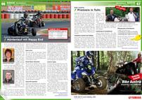 ATV&QUAD Magazin 2013/03-04, Seite 66-67, Szene Österreich, Austrian SuperMoto Quad Cup: Hürdenlauf mit Happy End; bike-austria: Premiere in Tulln