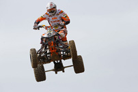 DMX Deutsche MotoCross Quad Meisterschaft 2013, 3. und 4. Lauf in Aufenau: Doppelsieger Stefan Schreiber