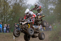 DMX Deutsche MotoCross Quad Meisterschaft 2013, 3. Lauf in Kamp Lintfort: Ingo ten Vregelaar vs. Joe Maessen