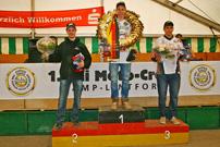 DMX Deutsche MotoCross Quad Meisterschaft 2013, 3. Lauf in Kamp Lintfort, Siegerehrung Quad: Maessen, Van Grinsven, Schreiber