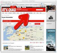 ATV&QUAD Erlebnisfinder: schnell und einfach Quadtouren online buchen am PC oder per QR-Code über Tablet oder Smartphone