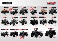 Alle Dinli Modelle 2014: Prospekt zum Download mit Kinderquads, Quads, ATVs und Zubehör aus Taiwan