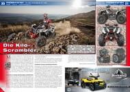 ATV&QUAD Magazin 2014/01-02, Seite 20-21; Präsentation Polaris Scrambler XP 1000: Die Kilo-Scrambler