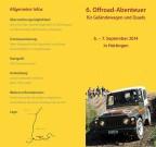 6. Offroad Abenteuer Hottingen 2014: offizieller Flyer
