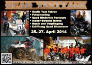 ATV Testtage 2014 bei ATV Action Arbon: Probefahrten und Eröffnung des neuen Quad-Showrooms