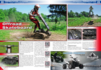 ATV&QUAD Magazin 2014/05-06, Seite 22-23; Präsentation DTV Shredder: Offroad Skateboard