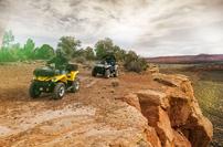 Can-Am Modelle 2015: neue Einstiegs-ATVs Outlander L 450 und L 500 mit langen und kurzen Radständen und auf Wunsch auch mit Servolenkung