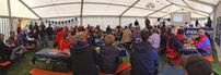 Polaris & Friends Treffen 2014 vom 16. bis 18. Mai, Frühstück am Sonntag: Rufe erhört; Foto: Quadfreunde Harz
