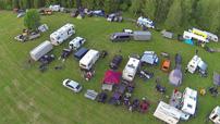 Polaris & Friends Treffen 2014 vom 16. bis 18. Mai: Wagenburg der Quadfreunde Harz auf dem Campingplatz Mondsee; Foto: Quadfreunde Harz