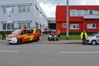 Benefiz Quad Ausfahrt 2014 der Initiative Glückliche Kinderherzen am 24. Mai: Begleitung durch Mannschafts-Wagen der Freiwilligen Feuerwehr Stuttgart Weilimdorf