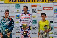 DMX Deutsche MotoCross Quad Meisterschaft 2014, 5. DMX Lauf 2014 in Reutlingen, Podium: Ingo ten Vregelaar auf Platz 1, Davy de Cuyper auf Rang 2 und Manfred Zienecker als Dritter