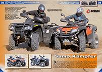 ATV&QUAD Magazin 2014/07-08, Seite 38-39, Vergleichstest CF Moto CForce 800 vs. Hisun ATV 800: Sumo-Kämpfer