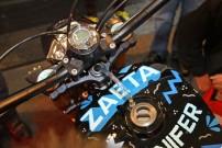 Kleinstserien-Motorrad Zaeta mit Acewell Tachometer und Drehzahlmesser