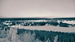 Unendliche Weiten: erforschen auf Schneemobil Touren in Schweden 2015