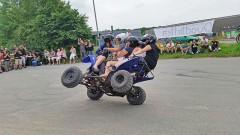 Treffen 2015 der Quadfreunde Hannover: Akrobatik von Stuntpilot Stefan Blank