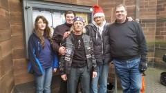 Obdachlosen Aktion 2014: Cheyenne, Patrick, Ben, Heinz und Andreas