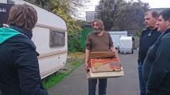 Obdachlosen Aktion 2014: In der Wohnwagen-Siedlung fehlt es am Nötigsten