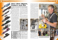 ATV&QUAD Magazin 2015/01-02, Seite 56-57, Workshop Fahrwerkstechnik: Tilo Fröse – Herr über Shims, Federn und Öle