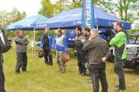 Polaris & Friends Treffen 2015: Fahrerbesprechung vor dem Start zu den Offroad-Probefahrten mit den aktuellen Polaris-Modellen auf dem Aktiv-Event im Tagebau Profen bei Hohenmölsen, der zum zweiten Mal vom 1. bis 3. Mai 2015 stattfinden wird