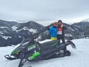 Snowmobil Touren in Tratten 2015: einmalig in Österreich und bisher Bergwacht, Pistendienst und Hüttenwirten vorbehalten