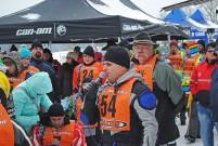 3. BHV Alpen Challenge Lauf 2015 am 8. Februar in Mainburg: Hauptsponsor Günther Voit macht die Ansage