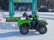 Quadfahren auf Eis in Davos 2015: 70 Fahrzeuge sind ohne Spikes oder Ketten aufs Glatteis geführt worden