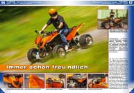 ATV&QUAD Magazin 2016/01-02, Seite 56-61, Tuning; SMC RAM 520 RR 'Clockwork Orange'