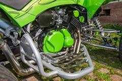 Da geht ´was weiter: ein FZR 600-Kubik Vierzylinder-Triebwerk sorgt im SMC-Quad für ordentlichen Vortrieb