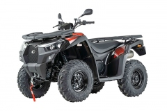 Kymco MXU 550i T Offroad LoF, Modell 2020: Seitenverkleidungen mit mehr Rundum-Schutz