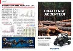 ATV&QUAD Magazin 2020/01, Seite 8-9: Neuzulassungszahlen Deutschland Januar bis Dezember 2018 / 2019