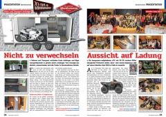 ATV&QUAD Magazin 2020/01, Seite 24-25, Präsentation Sport(s)caravan: Nicht zu verwechseln; Access & Aeon Händler-Gala 2019: Aussicht auf Ladung