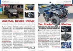 ATV&QUAD Magazin 2020/01, Seite 28-29, Präsentation Polaris Ranger EV 'Edition Eble 4x4': Leichter, flotter, weiter; TGB Blade Facelifts 2020: Der Blades neue Kleider