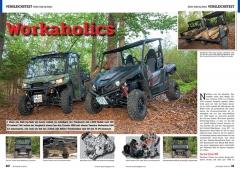 ATV&QUAD Magazin 2020/01, Seite 40-41, Vergleichstest 800er Side-by-Sides; Can-Am Traxter HD8 vs. Yamaha Wolverine 850 X2: Workaholics