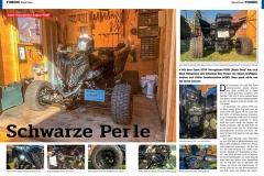 ATV&QUAD Magazin 2020/01, Seite 50-51, Tuning Exeet Vierzylinder Raptor-PIMP; Black Pearl: Schwarze Perle