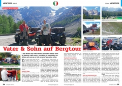 ATV&QUAD Magazin 2020/01, Seite 54-55, Abenteuer; Quadtour durch Südtirol: Vater & Sohn auf Bergtour