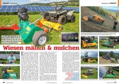 ATV&QUAD Magazin 2020/01, Seite 56-57, Einsatz; Schlegelmulcher: Wiesen mähen und mulchen