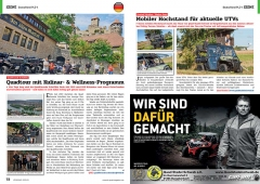 ATV&QUAD Magazin 2020/01, Seite 72-73, Szene Deutschland PLZ 9; Quadfreunde Scheßlitz: Quadtour mit Kulinar- & Wellness-Programm; Quad Stadel Schwab: Mobiler Hochstand für aktuelle UTVs