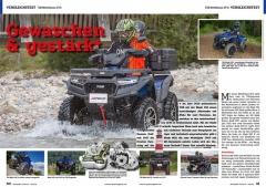 ATV&QUAD Magazin 2020/10 - 2021/01, Seite 30-31, Vergleichstest TGB Mittelklasse ATVs Blade 550 X vs. Blade 600 FL: Gewaschen & gestärkt