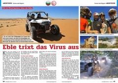 ATV&QUAD Magazin 2020/10 - 2021/01, Seite 46-47, Abenteuer Tunesien oder Bulgarien: Eble trixt das Virus aus