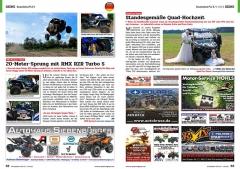 ATV&QUAD Magazin 2020/10 - 2021/01, Seite 52-53, Szene Deutschland PLZ 0 / 1 / 2/ 3; RMX / Polaris: 20-Meter-Sprung mit RMX RZR Turbo S; Quad-Fun-Touren: Standesgemäße Hochzeit
