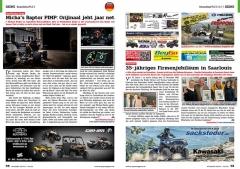 ATV&QUAD Magazin 2020/10 - 2021/01, Seite 58-59, Szene Deutschland PLZ 5 / 6 / 7; Quad Monkey Garage: Micha´s Raptor PIMP: Orijinaal jeht jaar net; Sacksteder: 35-jähriges Firmenjubiläum in Saarlouis