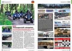 ATV&QUAD Magazin 2020/10 - 2021/01, Seite 64-65, Szene Deutschland PLZ 8 / 9; Quadrausch: Tourengeschäft abzugeben; Biker-Messen in Süddeutschland: IMOT und Motorradwelt Bodensee 2021 abgesagt