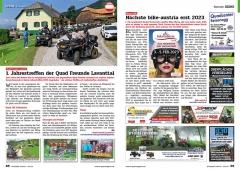 ATV&QUAD Magazin 2020/10 - 2021/01, Seite 68-69, Szene Österreich; Quad Freunde Lavanttal: Erstes Jahrestreffen der Quad Freunde Lavanttal; Messe Tulln: Nächste bike-austria erst 2023