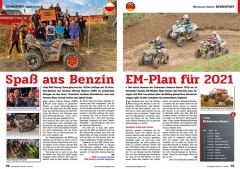 ATV&QUAD Magazin 2020/10 - 2021/01, Seite 78-79, Sport; RMX Racing beim GORM 24-h-Race: Spaß aus Benzin; EM Endurance Masters: EM-Plan für 2021