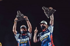 Francisco López und Juan Pablo Latrach Vinagre: gewinnen auf Can-Am Maverick die Rallye Dakar 2021  in den Klassen Lightweight Vehicle und SSV